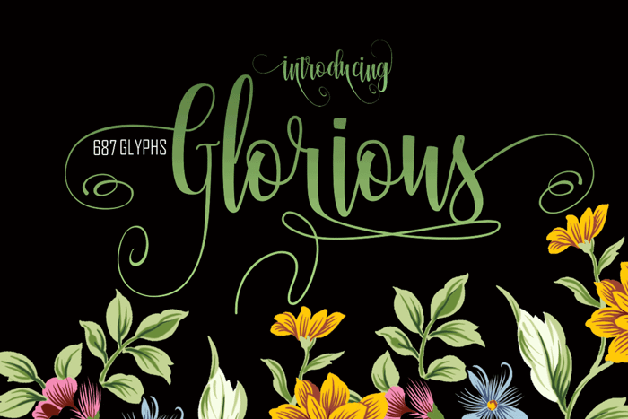 Glorious Free Font poster
