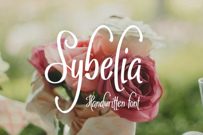 Sybelia Font poster