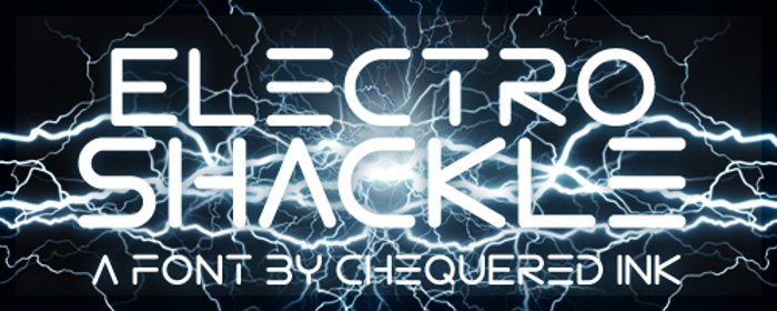 Electro Shackle Font poster