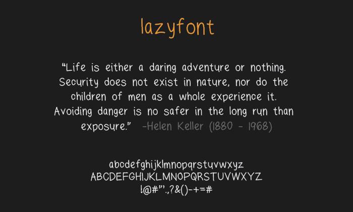 lazyfont Font poster