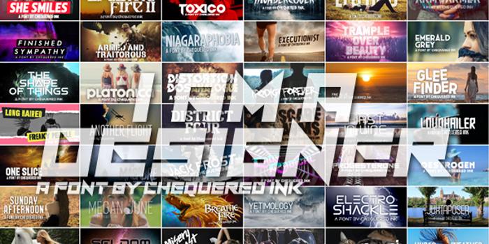 I Am A Designer Font poster