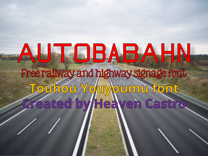 Autobabahn Font poster