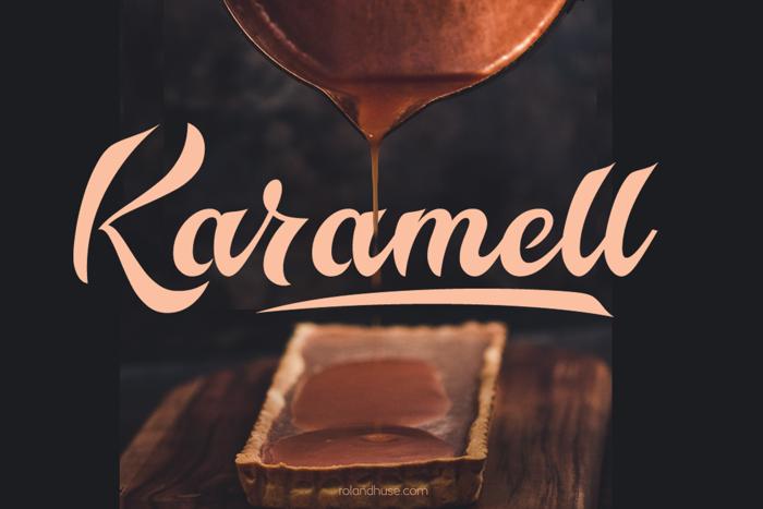 Karamell Font poster