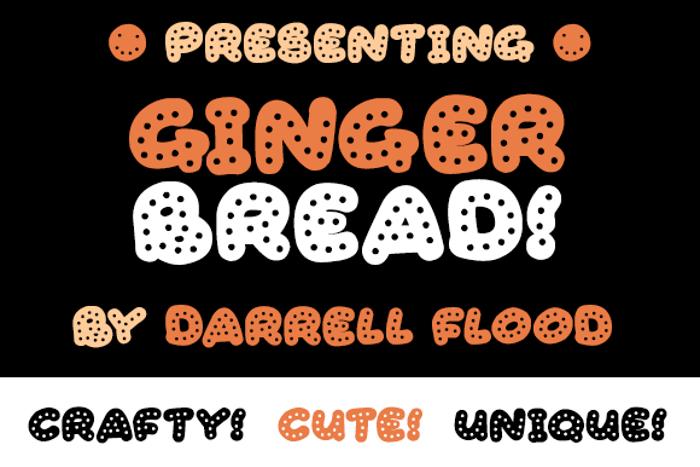 Gingerbread Font poster