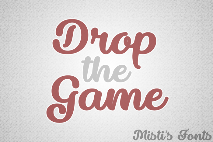 Drop the Game Font poster