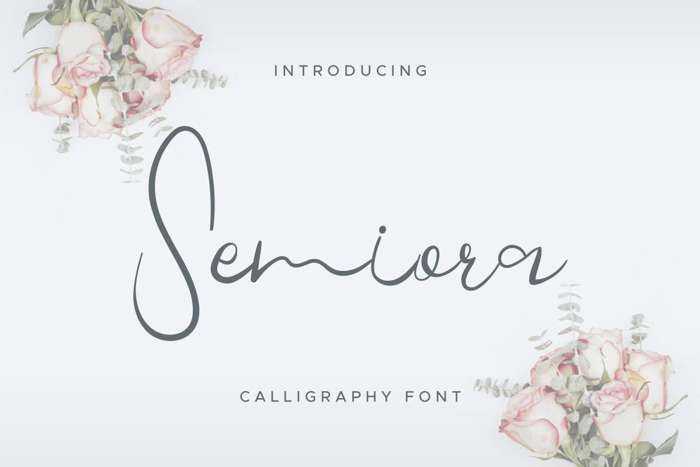 Semiora Font poster