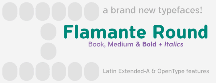 Flamante Round Font poster