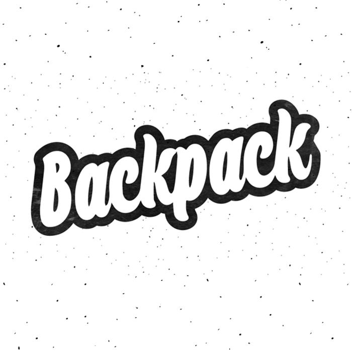Backpack Font poster