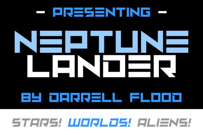 Neptune Lander Font poster