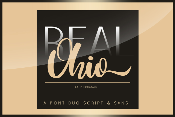 Real Ohio Font poster