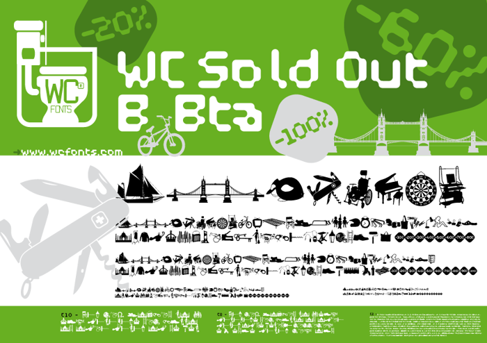 WC Sold Out B Bta  Font poster