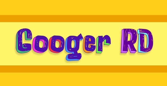 Googer RD Font poster