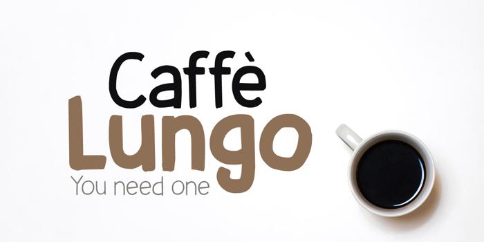 Caffe Lungo DEMO Font poster