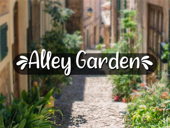 a Alley Garden Font poster