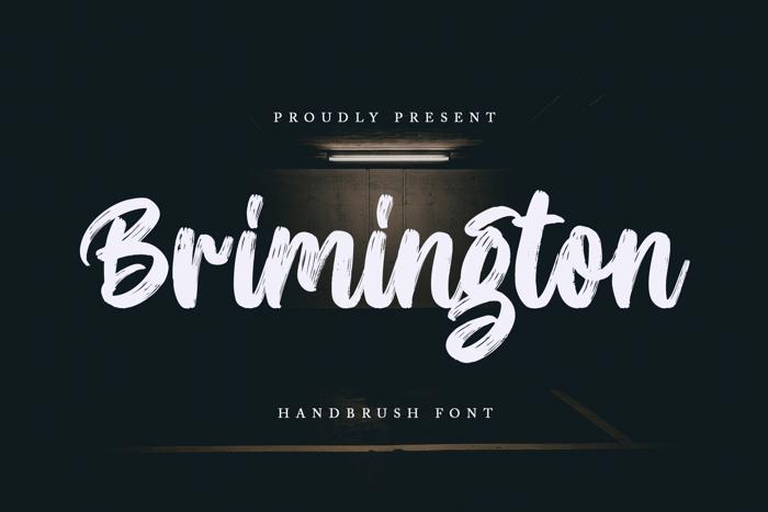 Brimington Font poster