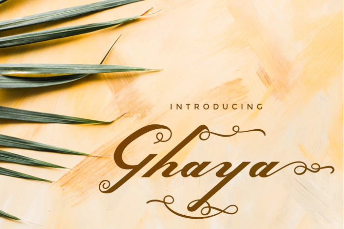 Ghaya Font poster
