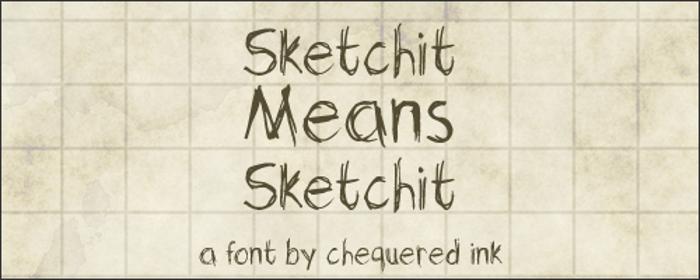 Sketchit Means Sketchit Font poster