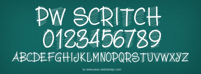 PWScritch Font poster