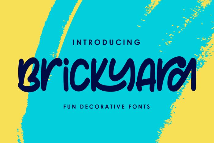 Brickyard Font poster