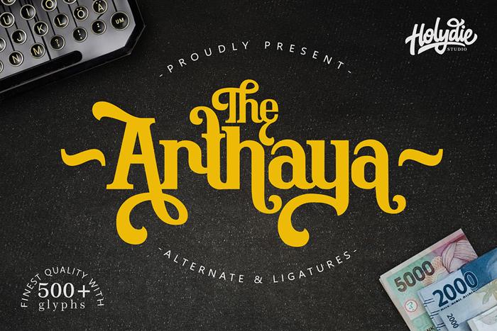 The Arthaya Font poster
