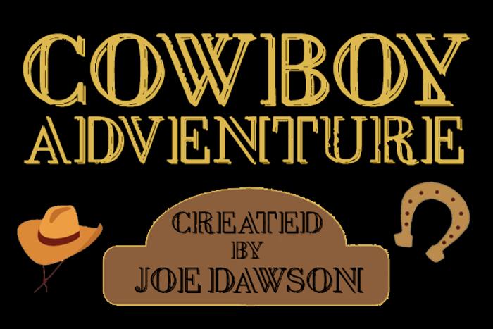 Cowboy Adventure Font poster