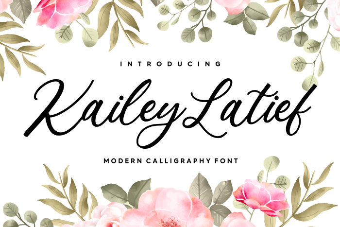 Kailey Latief Font poster
