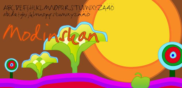 Modinskan Font poster