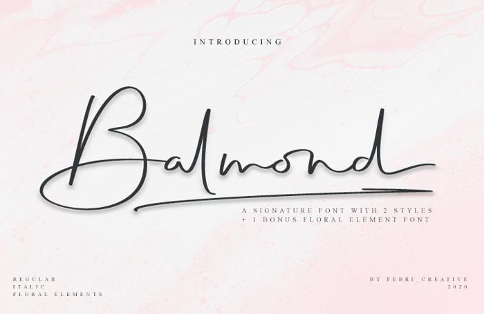 Balmond Font poster