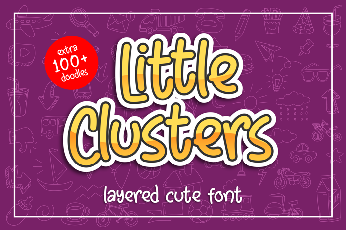 Little Clusters Font poster