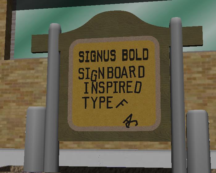 Signus Bold NBP Font poster