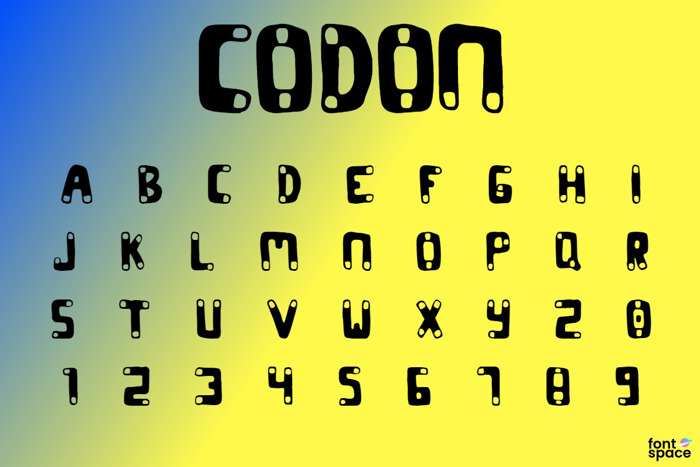 CODON Font poster