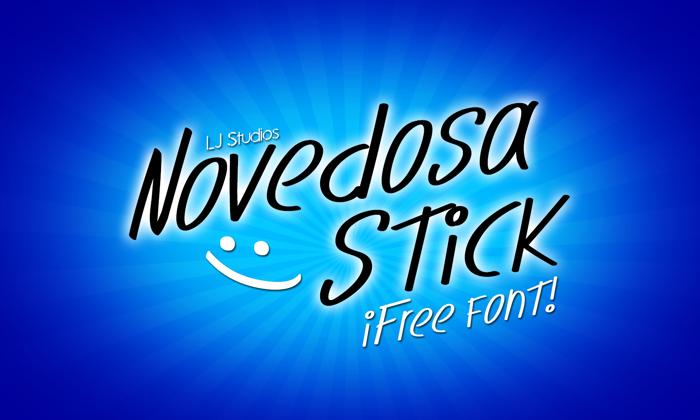 Novedosa Stick Font poster