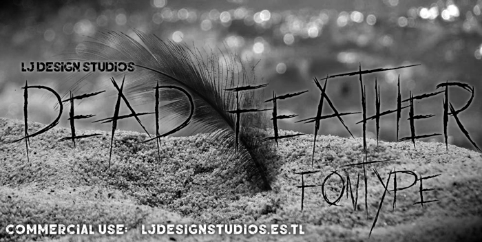 dead feather Font poster