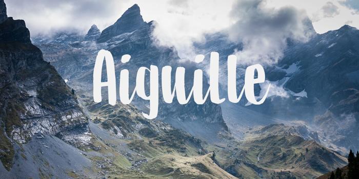 DK Aiguille Font poster