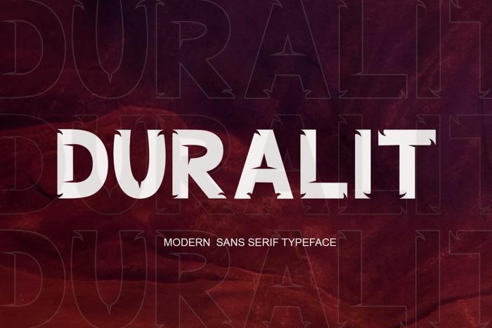 DURALIT Font poster