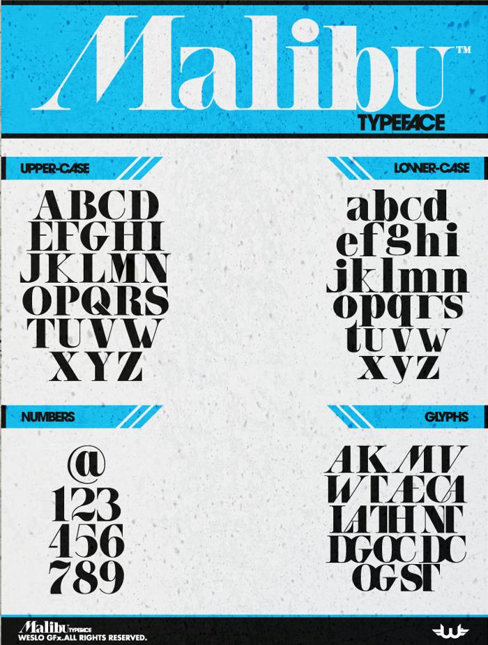 Malibu Font poster