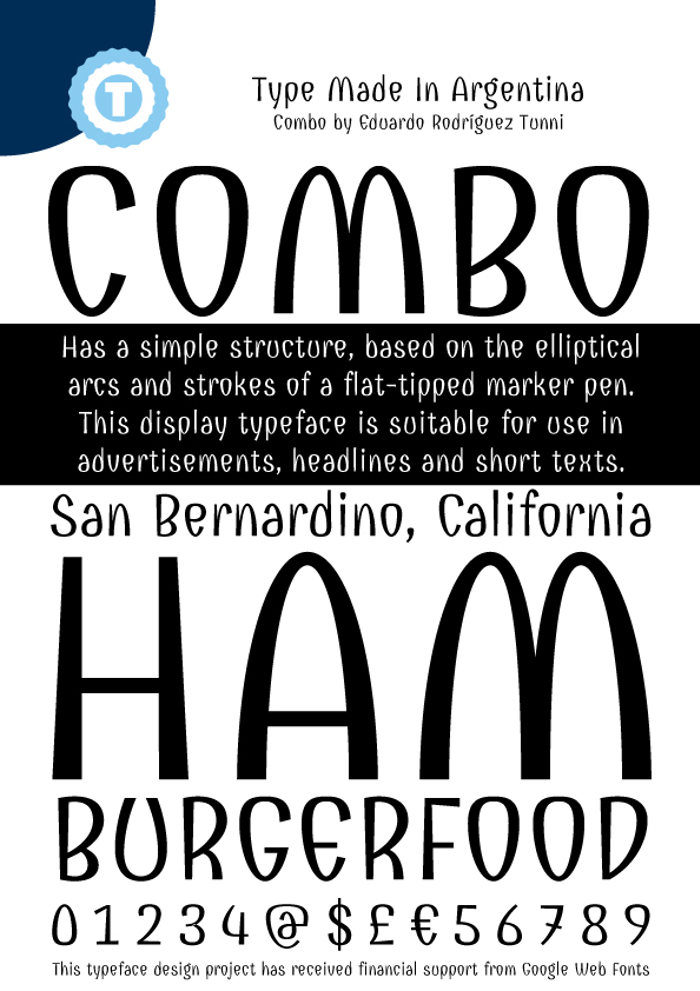 Combo Font poster