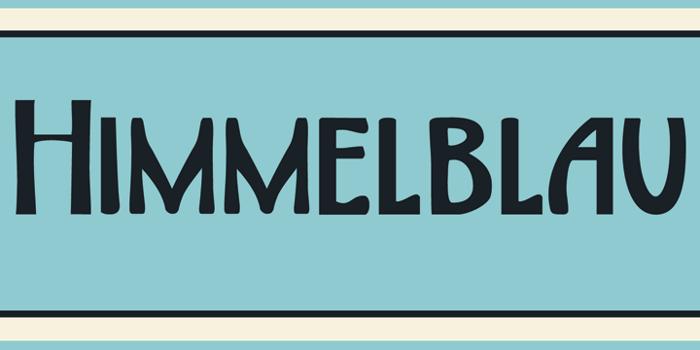 DK Himmelblau Font poster