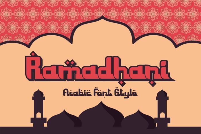 Ramadhani Font poster