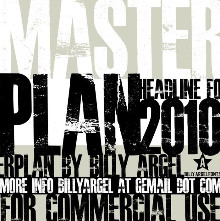 MASTERPLAN Font poster
