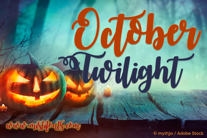 October Twilight Font poster