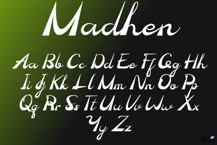 Madhen Font poster
