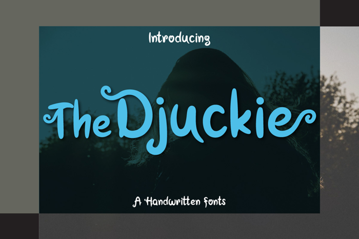 The Djuckie Font poster
