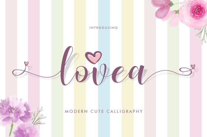 Lovea Font poster