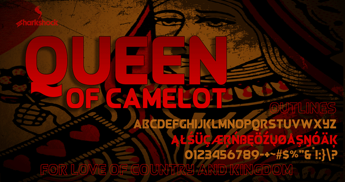 Queen of Camelot Font poster