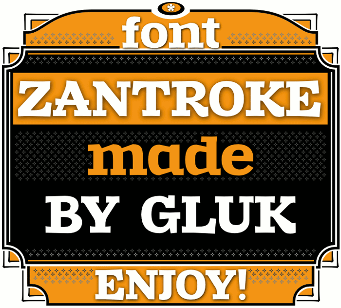 Zantroke Font poster