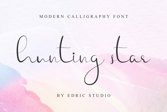 Hunting Star Font poster