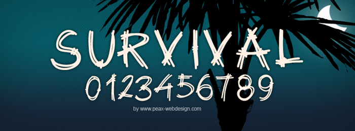 PWSurvival Font poster