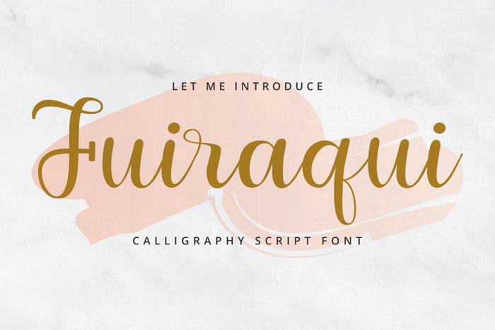 Fuiraqui Font poster