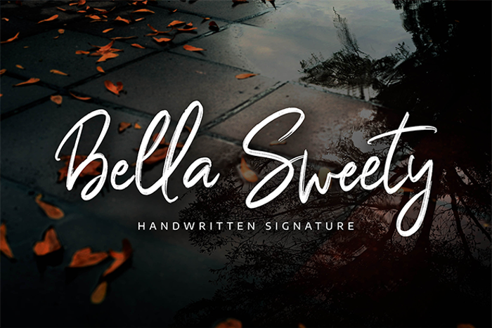 Bella Sweety Font poster